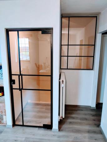 Steellook glazen deur en binnenraam