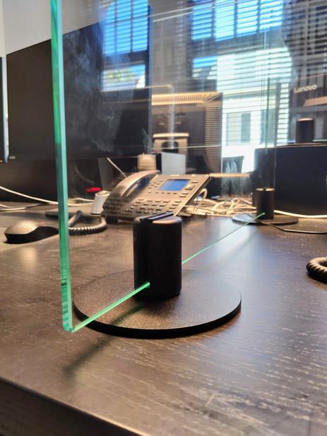 Bureauschermen in glas