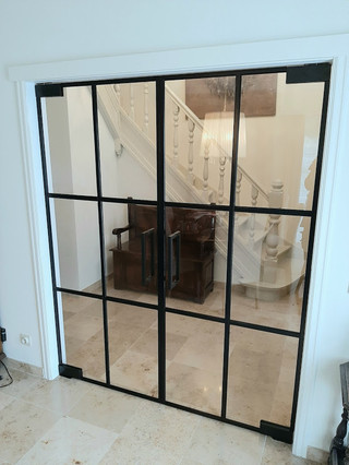 Dubbele steellook deur