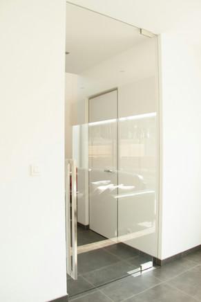 Glazen deur extra klaar