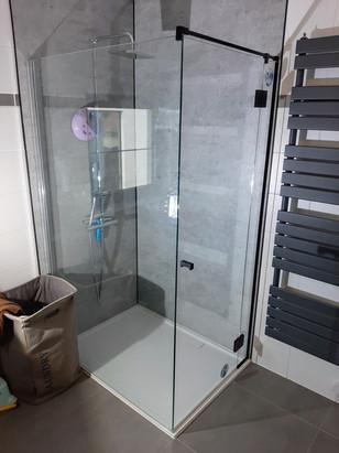 Douchedeur met zijpaneel
