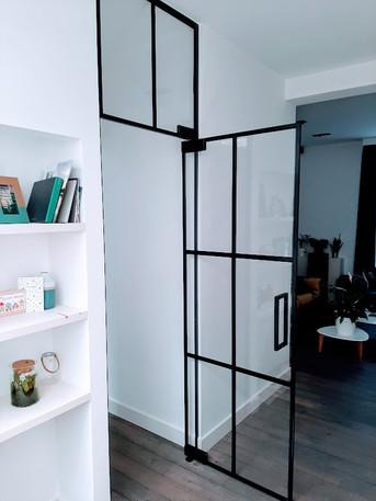 Steellook glazen deur met bovenpaneel