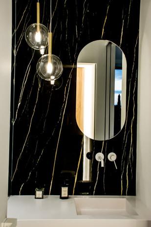 Spiegel met ronde hoeken