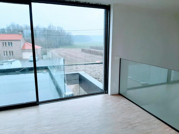 Glazen balustrade (binnen & buiten)