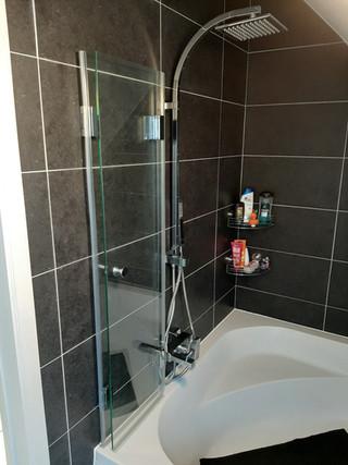 Douchescherm / vouwwand op bad