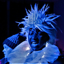Snow Queen (Shireenah Ingram) and Kai (Bill Hastings)