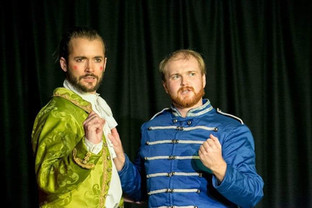 Prince Charming (Hjalmar Norden) & Buttons (Bill Hastings).