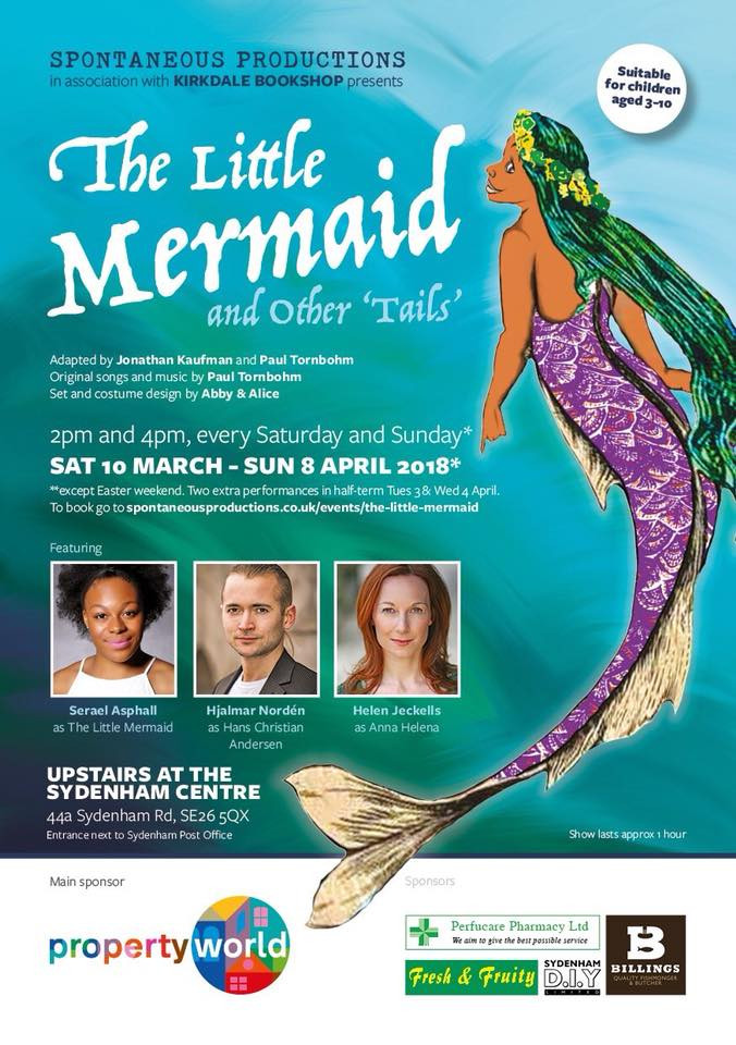 'The Little Mermaid and Other Tails' 10/3-8/4/18 Syndenham