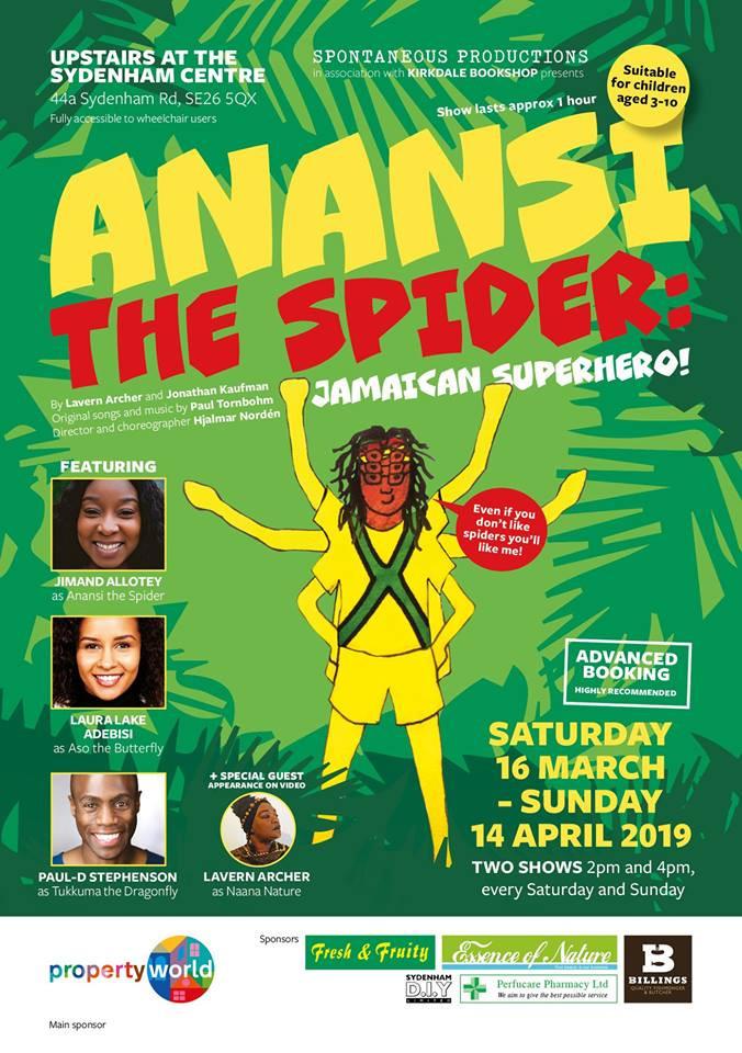 'Anansi' March - April 2019
