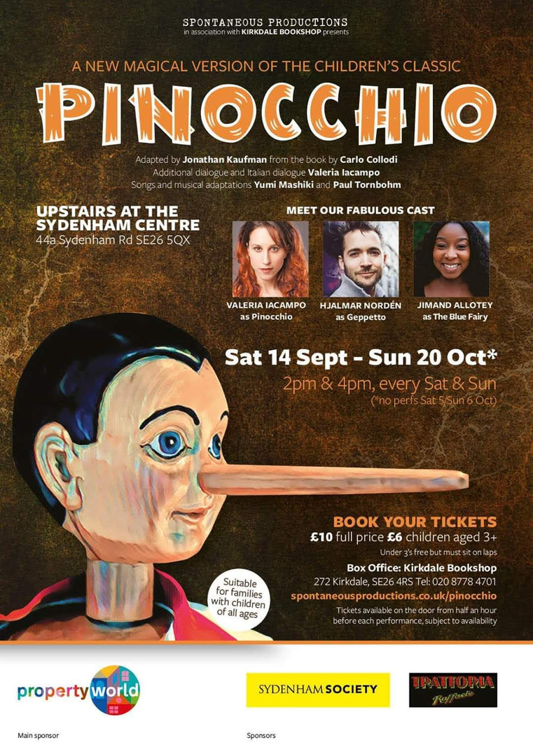 'Pinocchio' Sept - Oct 2019