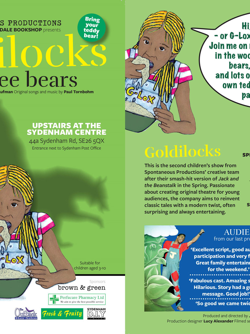 'Goldilocks & The Three Bears' Sept-Oct '18, Sydenham