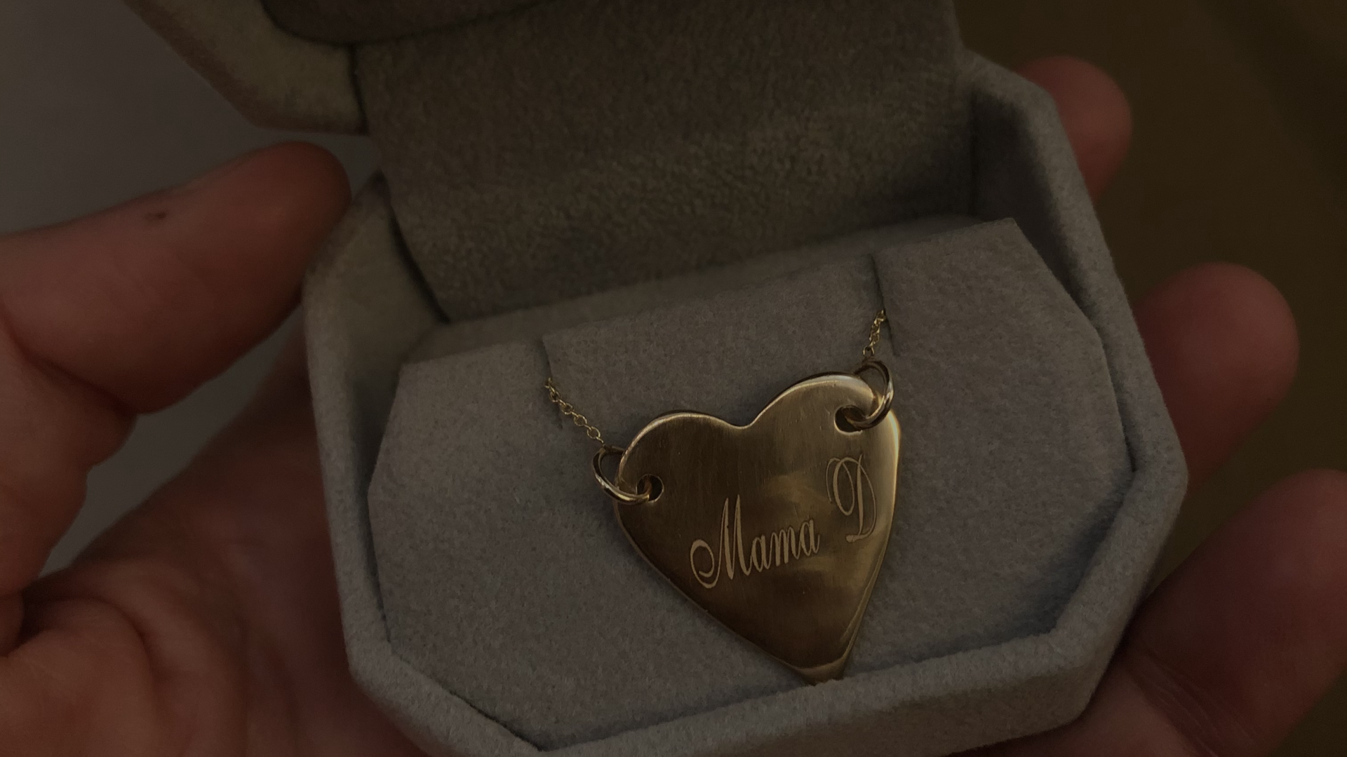 """Custom """"Heart Keeper"""" necklace 18k with personalized engraving"""