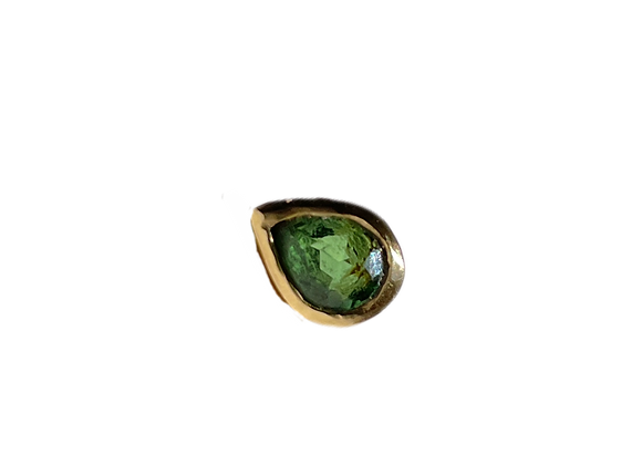 Pear Shape Green Tourmaline | single stud