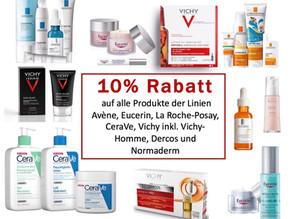 10% Rabatt auf Avène, CeraVe, Eucerin ...