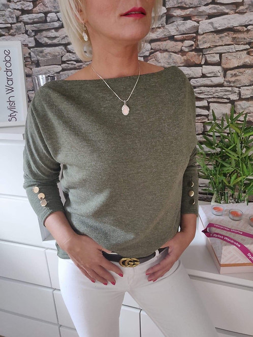 Regular Sweater Khaki Green