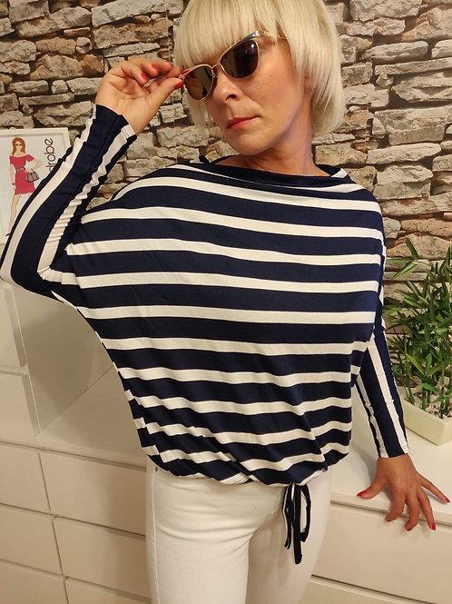 Striped L/S Top Black/White