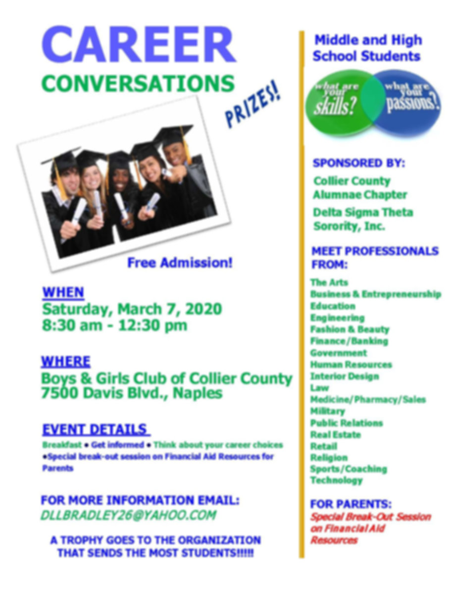 2020 Career Conversations Flyer Revised