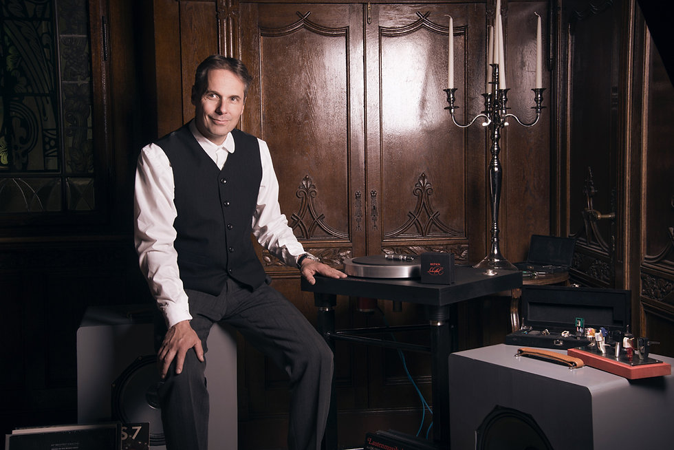 Thomas Schick with his Model 14 Idler Drive Turntable