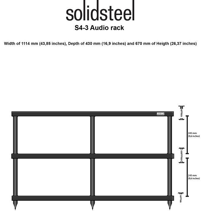 SolidSteel S4-3 Audio Rack