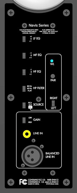 Elac Navis EQ Controls
