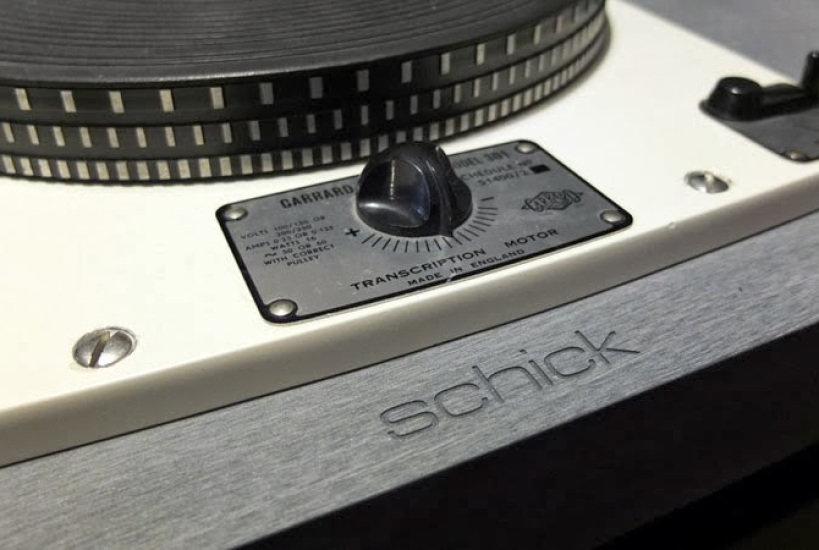 Garrard 301 turntable on Schick Reference Plinth