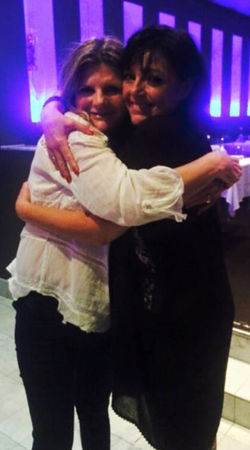 hugs with Suzanne