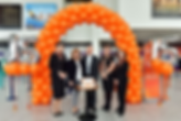 easyJet staff with Ali Gayward, Dave Lee