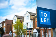 Estate agency 'To Let' sign board with l