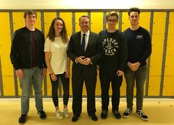 MP visits Nailsea School