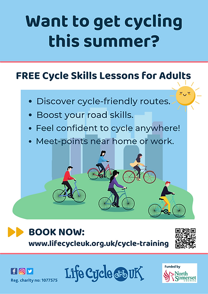 Cycle Training, N. Somerset_flyer_March