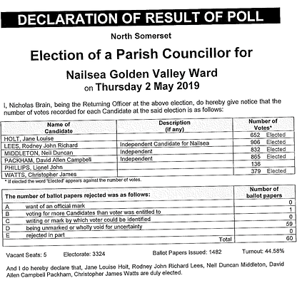 Nailsea Town Council election.PNG
