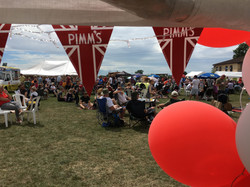 In the Pimm's tent
