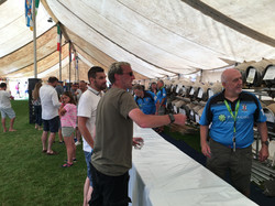 In the beer tent