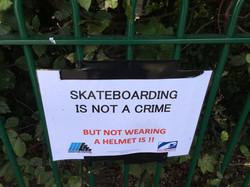 Warning: helmets must be worn