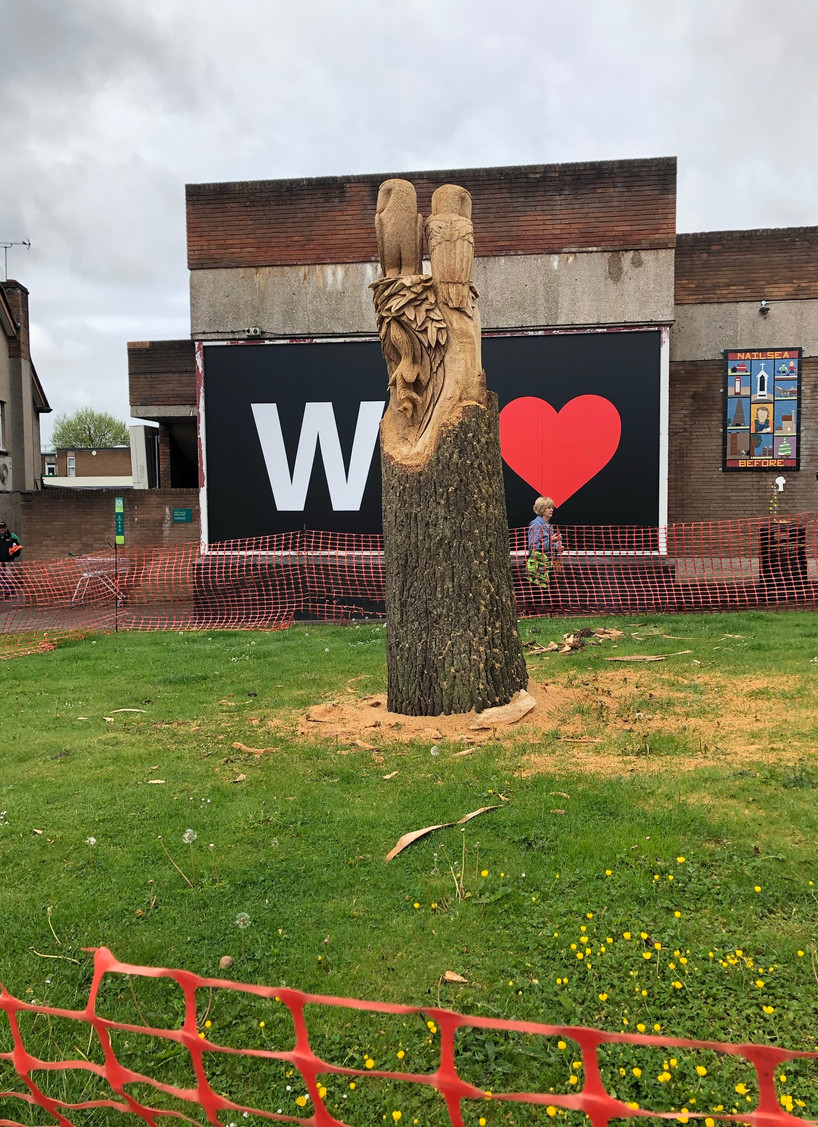 Our mighty oak sculpture