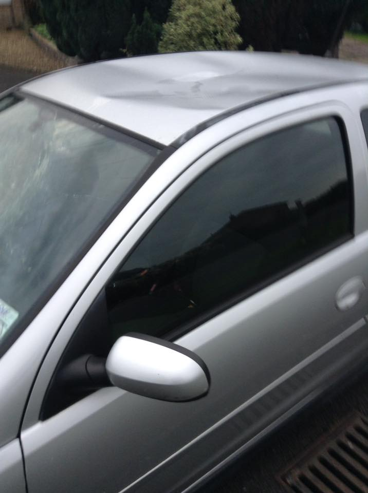 Car vandalised at Mizzymead Road