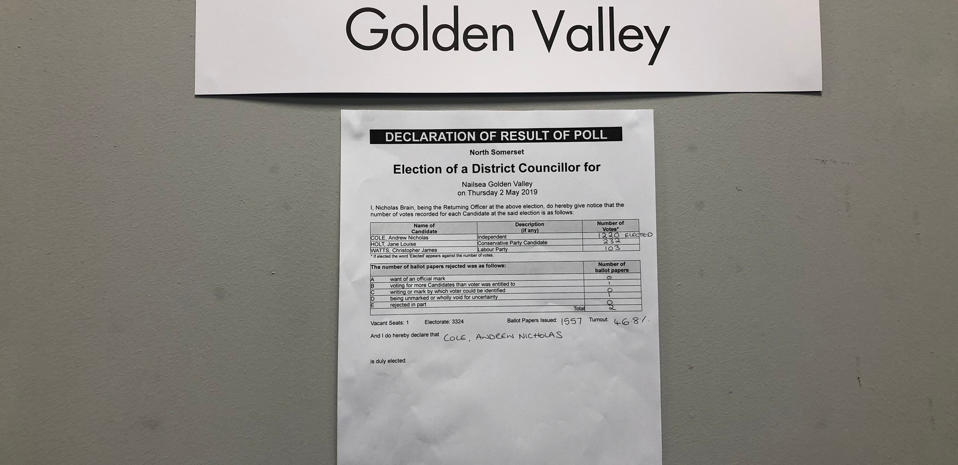 Election count, Friday, May 3