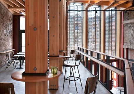Mezzanine in new foyer Bristol Old Vic c