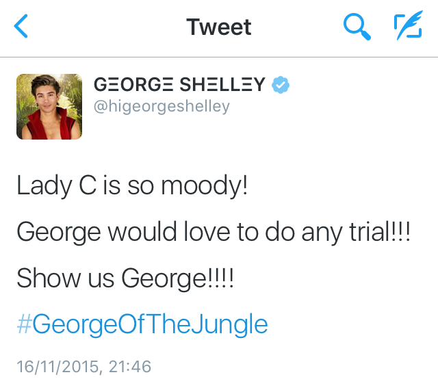 George in jungle