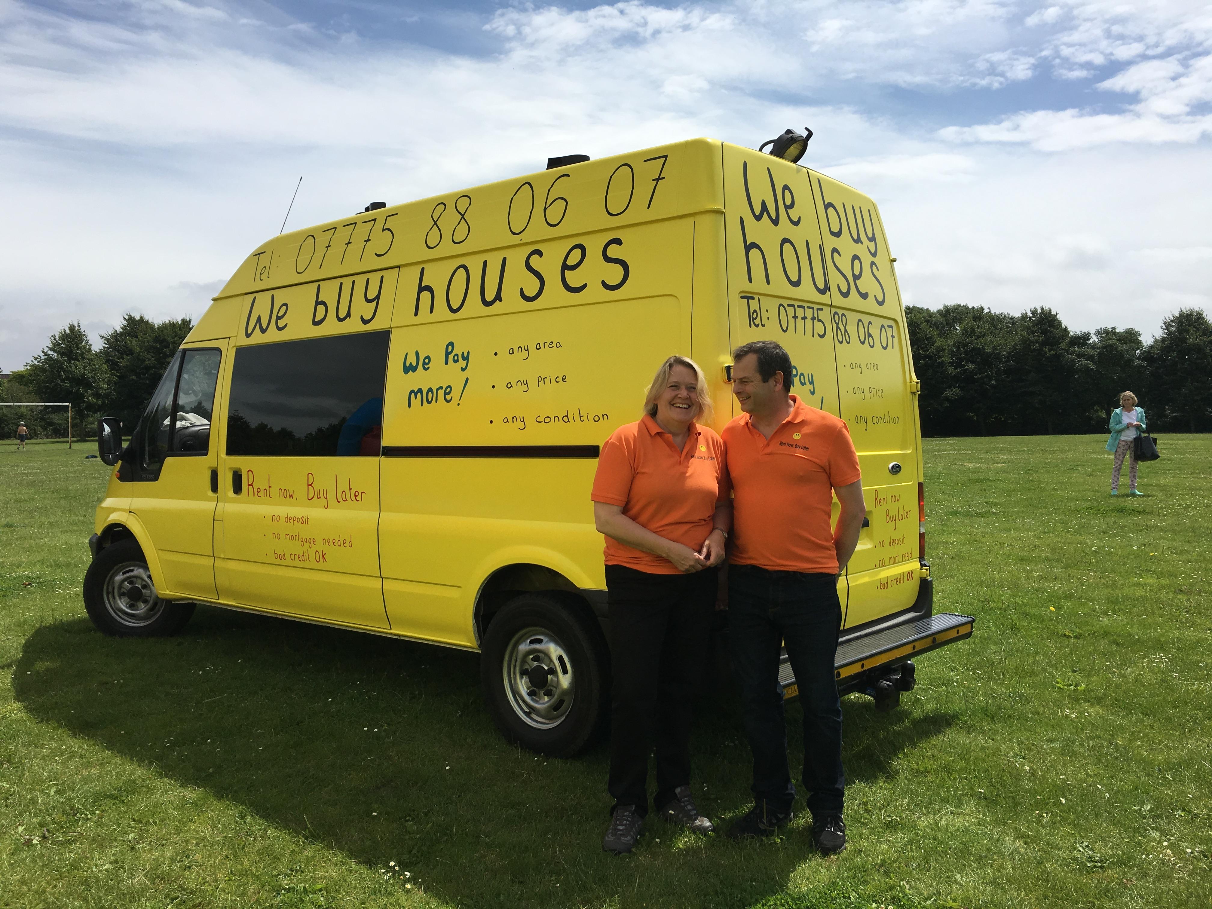 Big Yellow Transit Van