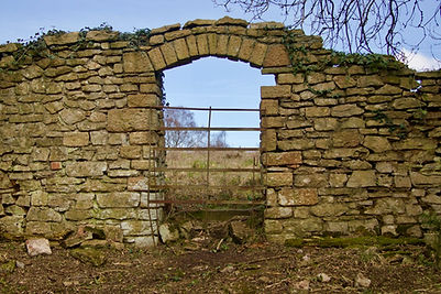 Tyntesfield boundary wall archway before