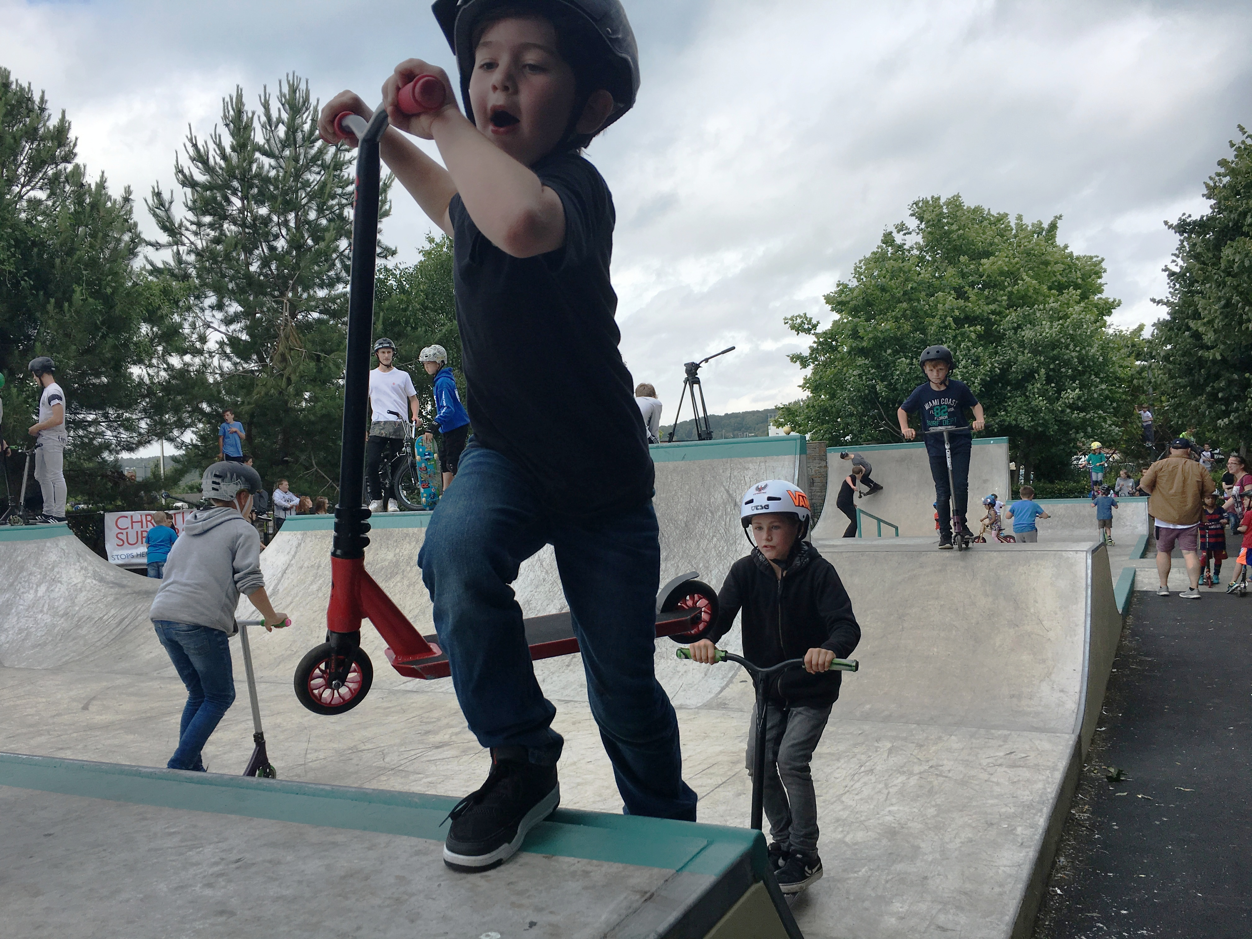 Children of all ages took part