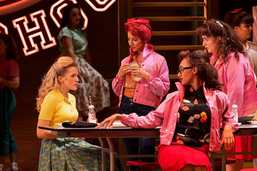 LtoR Georgia Louise as Sandy, Marianna Neofitou as Frenchie, Inez Budd as Marty & Maeve By