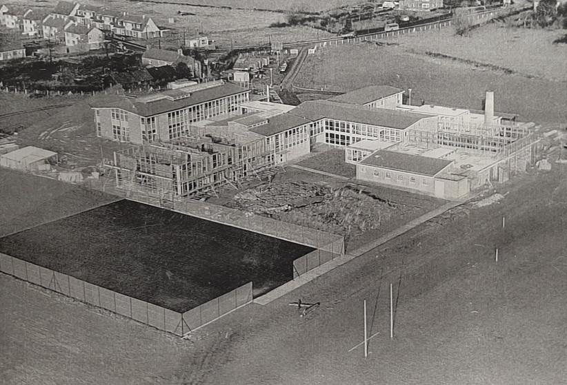Nailsea School being built