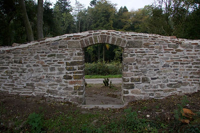 Tyntesfield boundary wall archway after