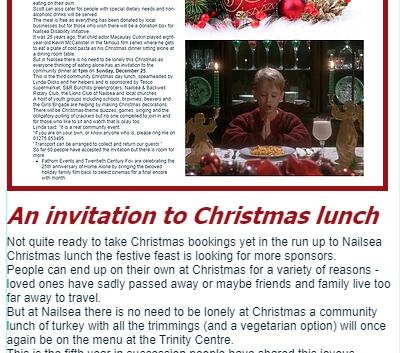 Nailsea Christmas community lunchg