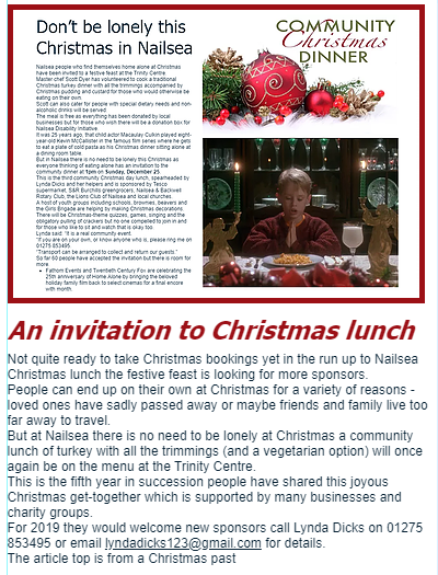 Nailsea Christmas community lunchg