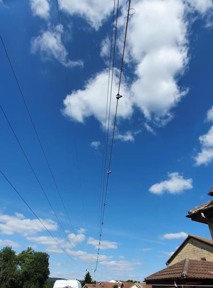 Pylons coming down