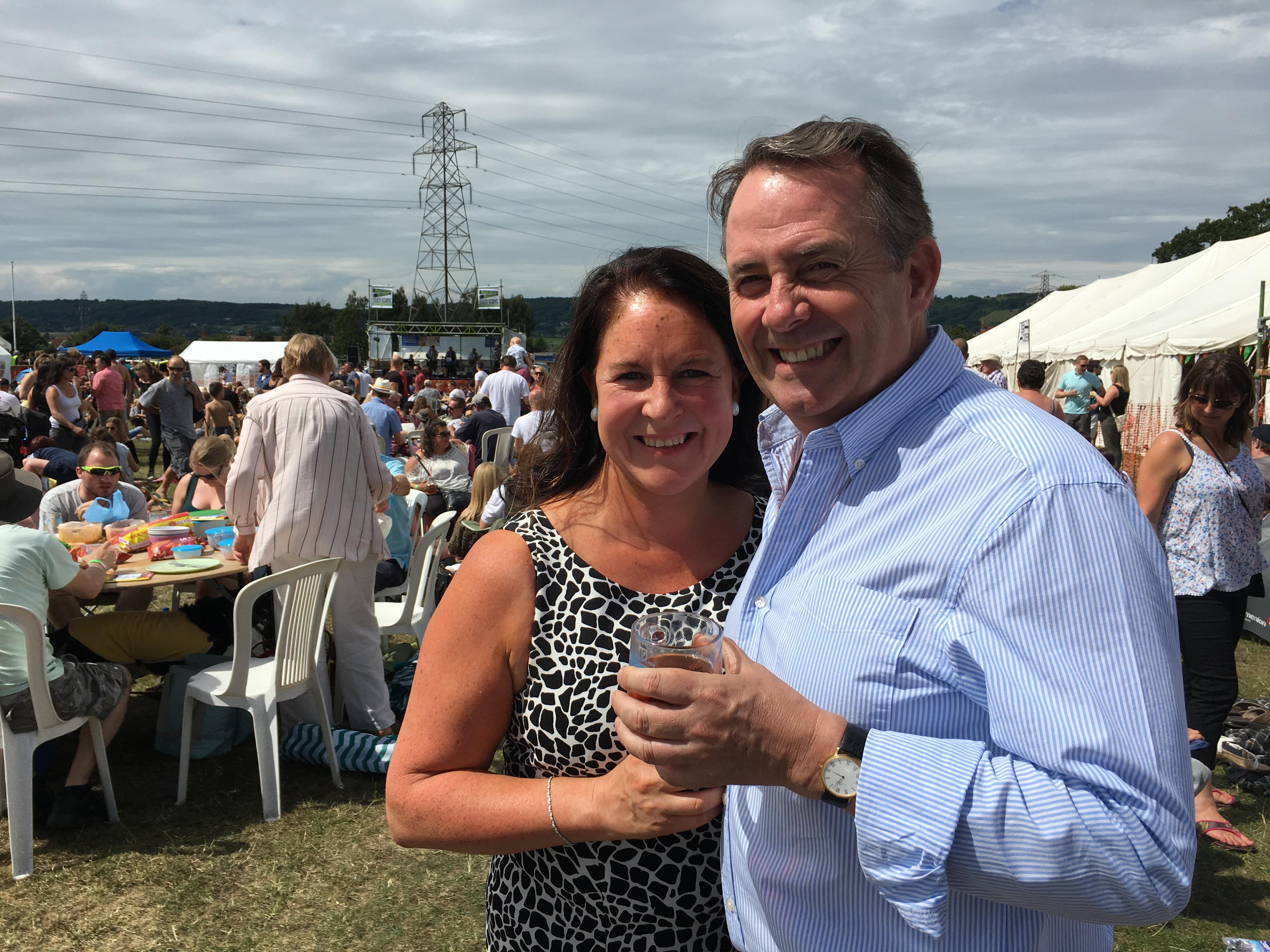 Patron Liam Fox MP and wife Jesme