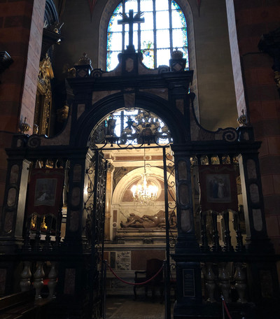 inside St Mary's Basilica